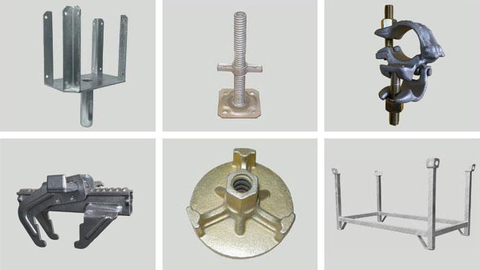 Accessori per puntelli, ponteggi e casseforme