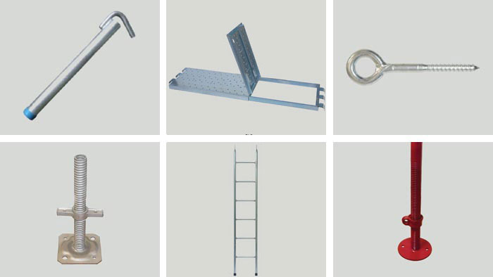 Accessories for scaffoldings