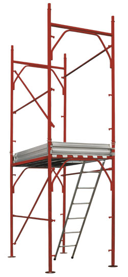 Pins-type scaffolding