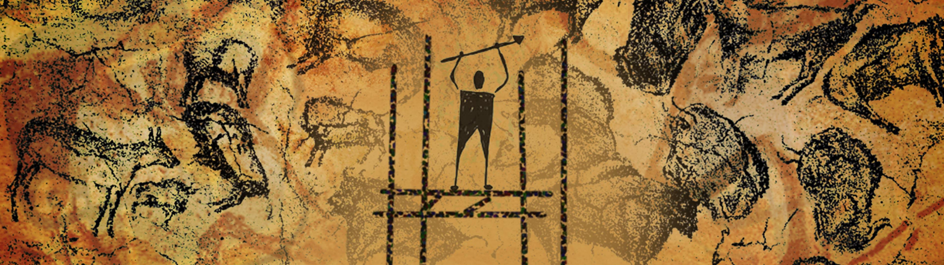 Ponteggi su finte pitture rupestri