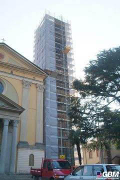 SCAFFOLDING FOR A BELL TOWER RENOVATION 1