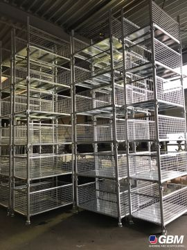 FOLDING WIRE MESH GALVANIZED CONTAINERS