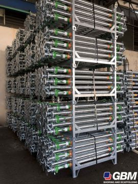 GALVANIZED DIN EN 1065 SHORING PROPS WITH HUNNEBECK COMPATIBLE CONTAINER