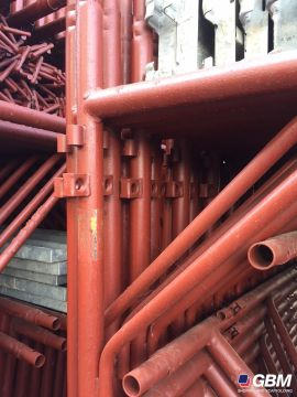 REPAINTED USED MESSERSI BUSHING-TYPE SCAFFOLDING 2