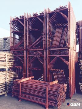 USED MESSERSI BUSHING-TYPE SCAFFOLDING REPAINTED 1
