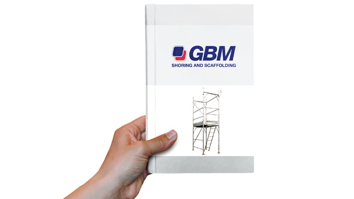 GBM tube-coupler scaffoldings assembly, use and maintenance instructions booklet in pdf format