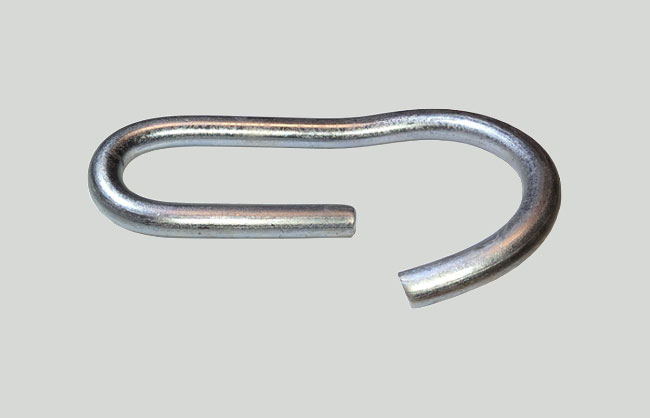 Steel pin for prop with bend