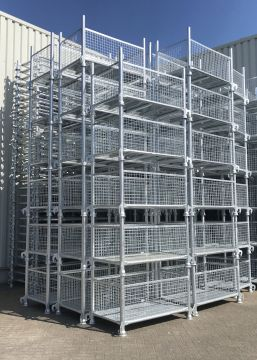 FOLDING WIRE MESH GALVANIZED CONTAINERS 2