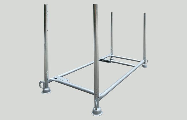 Contenitore per tavole con gambe smontabili