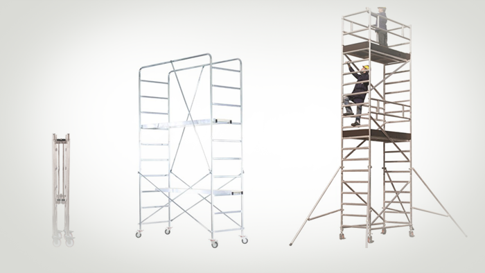 Mobile scaffoldings