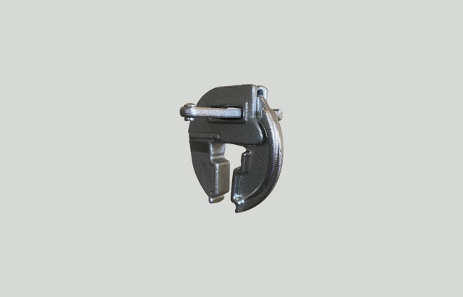 Adjustable forged steel clamp for formwork