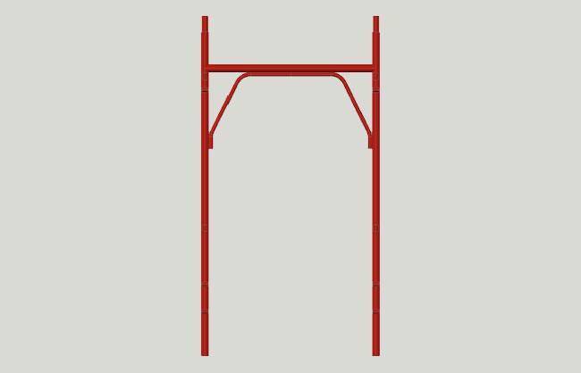 Bushing scaffolding frame