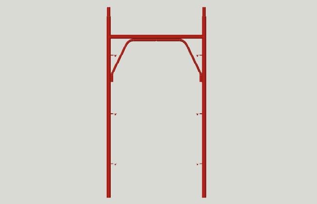 Pin scaffolding frame