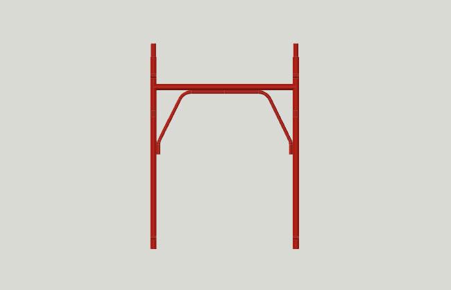 Bushing scaffolding half-frame