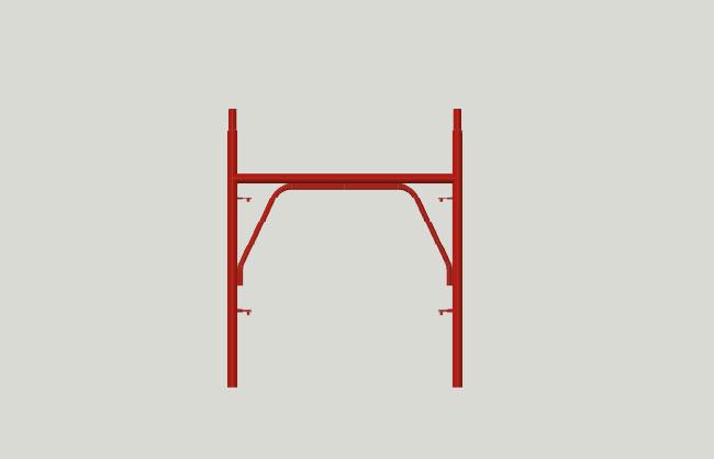 Pin scaffolding half frame