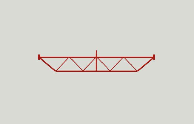 Pin scaffolding 3,60 mt opening truss