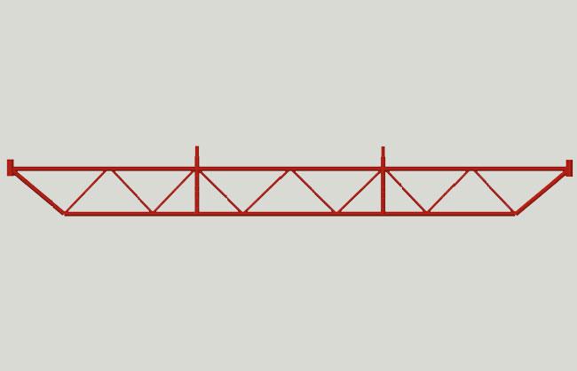 Pin scaffolding 5,40 mt opening truss