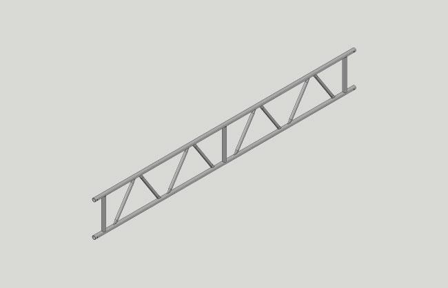 Steel truss beam