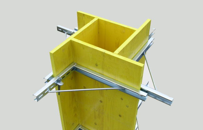 Tie-brackets for pillar