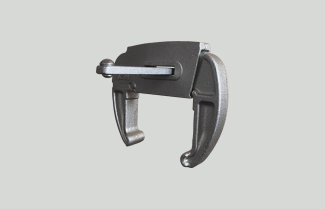 Adjustable cast iron clamp for formwork