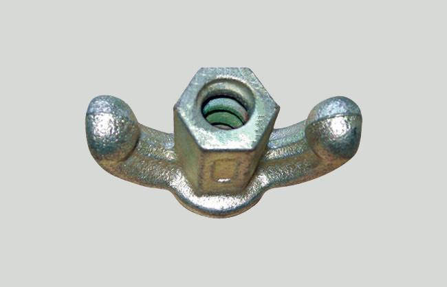 Porca com asas de  ferro fundido galvanizada