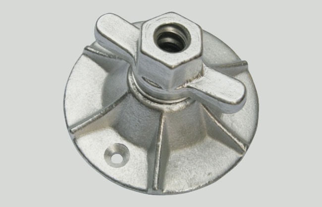 Plate nut for formwork