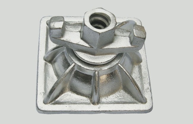 Dome nut plate for formwork