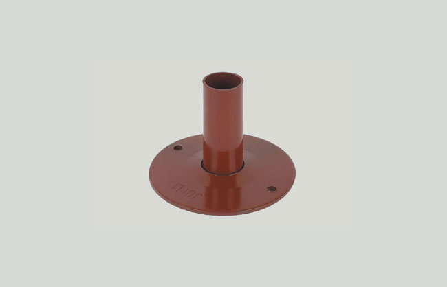 Base plate for scaffolding