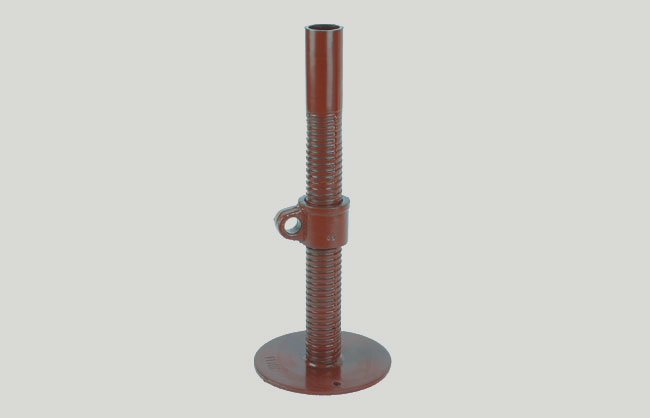 Bushing scaffolding adjustable base plate