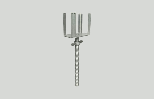 Four way head screw jack galvanized
