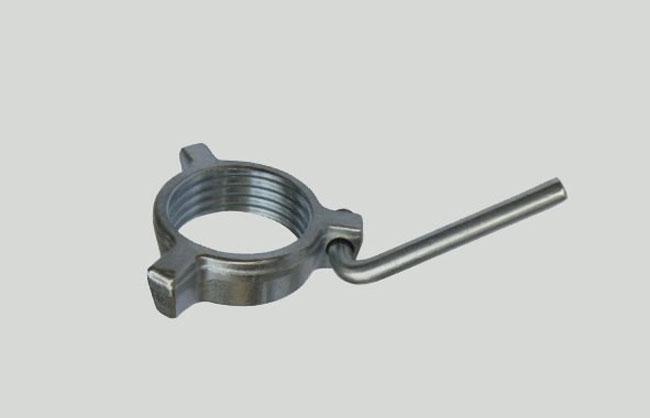 Ghiera per puntello in acciaio con 3 alette zincata