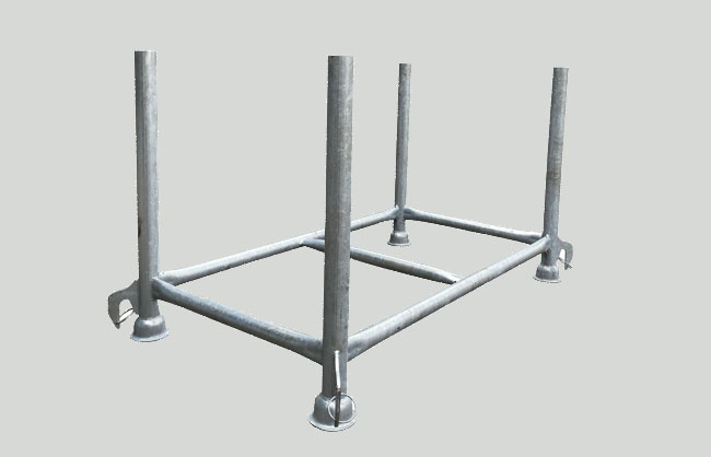 Galvanised container for props