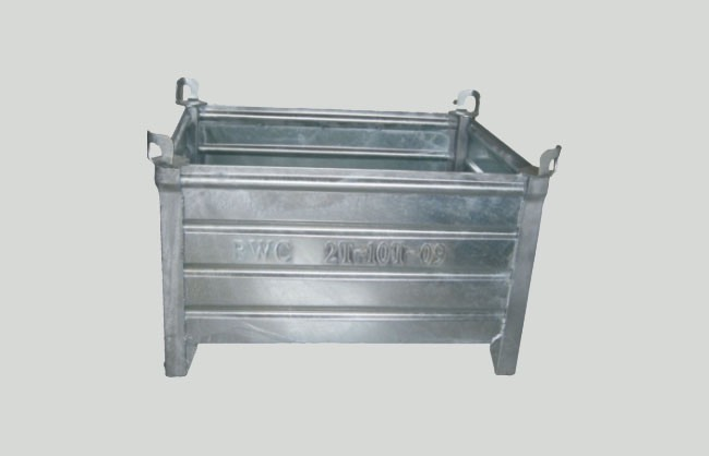 Galvanised sheet container