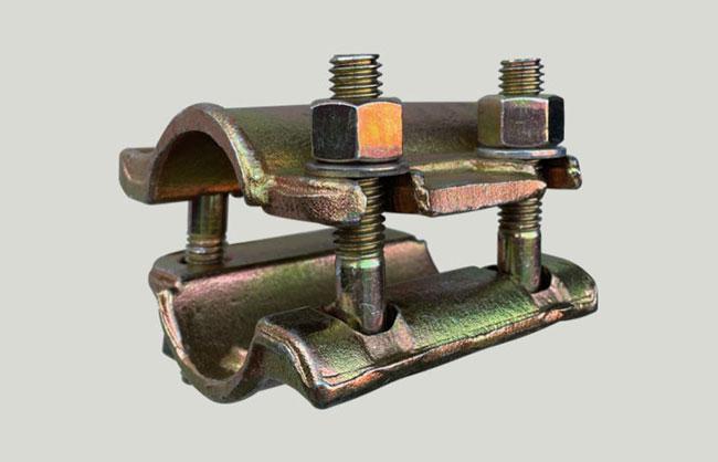 Junta abraçadeira de conexão galvanizada EN74