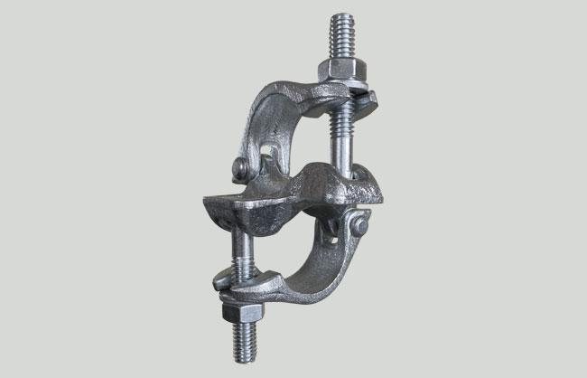Junta abraçadeira ortogonal EN74 com charneira galvanizada